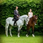 Jindra a Daniel společně na koni v parku