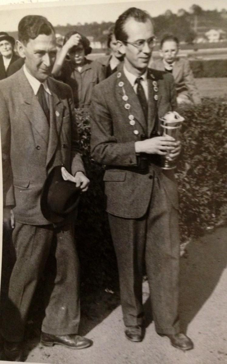 Otakar Stára (v pravo) s prof. Michalem